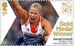 Paralympics Team GB Gold Medal Winners  1st Stamp (2012) Athletics: Track Women's 200m, T34 - Paralympics Team GB Gold Medal Winners