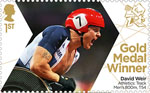 Paralympics Team GB Gold Medal Winners  1st Stamp (2012) Athletics: Track Men's 800m, T54 - Paralympics Team GB Gold Medal Winners