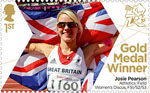 Paralympics Team GB Gold Medal Winners  1st Stamp (2012) Athletics: Field Women's Discus F51/52/53 - Paralympics Team GB Gold Medal Winners