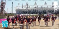 Memories of London 2012 1st Stamp (2012) Olympic Games - Games Makers