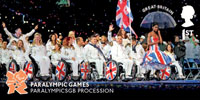 Memories of London 2012 1st Stamp (2012) Paralympic Games - Paralympics Procession