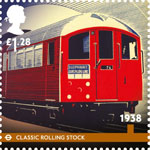 London Underground £1.28 Stamp (2013) 1938 - Classic Rolling Stock