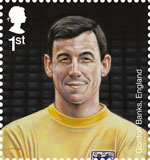Football Heroes 1st Stamp (2013) Gordon Banks