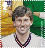 Football Heroes 1st Stamp (2013) Bryan Robson