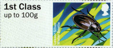 Post & Go: Ponds - Freshwater Life 1 1st Stamp (2013) Lesser Silver Water Beetle