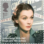 Great Britons 1st Stamp (2013) Vivien Leigh (1913-1967)