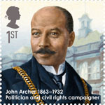 Great Britons 1st Stamp (2013) John Archer (1863-1932)