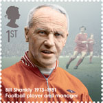 Great Britons 1st Stamp (2013) Bill Shankly (1913-1981)