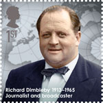 Great Britons 1st Stamp (2013) Richard Dimbleby (1913-1965)
