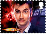 Classic TV - 50 Years of Doctor Who 1st Stamp (2013) David Tennant