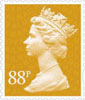 New Definitives 2013 88p Stamp (2013) 88p Amber Yellow