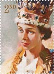 Royal Portraits 2nd Stamp (2013) Study for The Coronation of Queen Elizabeth II by Terence Cuneo 1953
