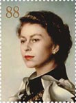 Royal Portraits 88p Stamp (2013) Portrait by Pietro Annigoni 1955