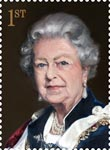 Royal Portraits 1st Stamp (2013) Portrait commissioned by Royal Mail