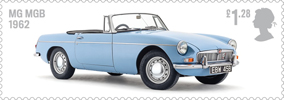 British Auto Legends £1.28 Stamp (2013) MG MGB, 1962