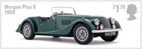 British Auto Legends £1.28 Stamp (2013) Morgan Plus 8, 1968