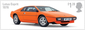 British Auto Legends £1.28 Stamp (2013) Lotus Esprit, 1976