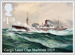 Merchant Navy £1.28 Stamp (2013) Cargo Liner Clan Matheson 1919