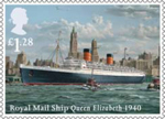 Merchant Navy £1.28 Stamp (2013) Royal Mail Ship Queen Elizabeth 1940