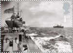 Merchant Navy 1st Stamp (2013) Escorting HMS Vanoc