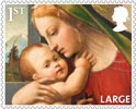 Christmas 1st Large Stamp (2013) Virgin and Child with young St John the Baptist
