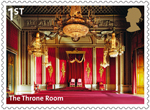 Buckingham Palace 1st Stamp (2014) The Throne Room