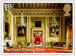 Buckingham Palace 1st Stamp (2014) The Green Drawing Room