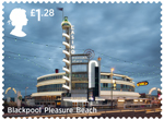 Seaside Architecture �1.28 Stamp (2014) Blackpool Pleasure Beach