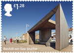Seaside Architecture �1.28 Stamp (2014) Bexhill-On-Sea Shelter