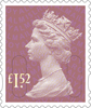 Definitives 2015 �52 Stamp (2015) Orchid Mauve