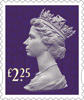 Definitives 2015 �25 Stamp (2015) Plum Purple