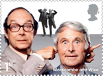 Comedy Greats 1st Stamp (2015) Morcambe and Wise