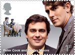 Comedy Greats 1st Stamp (2015) Peter Cook and Dudley Moore