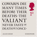 Shakespeare 1st Stamp (2016) Julius Caesar (1599) Act 2, Scene 2
