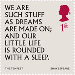 Shakespeare 1st Stamp (2016) The Tempest (1611) Act 4, Scene 1