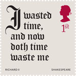 Shakespeare 1st Stamp (2016) Richard II (1595-96) Act 5, Scene 5