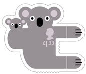 Animail £1.33 Stamp (2016) Koala