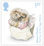 Beatrix Potter 1st Stamp (2016) The Tale of Mrs. Tiggy-Winkle