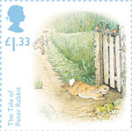 Beatrix Potter £1.33 Stamp (2016) The Tale of Peter Rabbit - Four