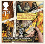 The Great Fire of London �1.05 Stamp (2016) Monday, 3rd September 1666, Fire Breaks Created