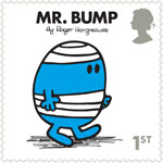 Mr Men and Little Misses 1st Stamp (2016) Mr. Bump