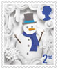 Christmas 2nd Stamp (2016) Snowman