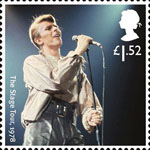 David Bowie 1st Stamp (2017) The Stage Tour, 1978