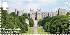 Windsor Castle 1st Stamp (2017) The Long Walk