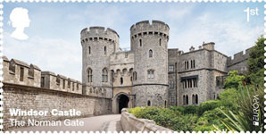 Windsor Castle 1st Stamp (2017) The Norman Gate