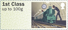 Post & Go : Royal Mail Heritage : Mail by Rail 1st Stamp (2017) Post Office (London) Railway