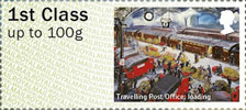 Post & Go : Royal Mail Heritage : Mail by Rail 1st Stamp (2017) Travelling Post Office: Loading