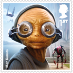 Star Wars - Droids and Aliens 1st Stamp (2017) Maz Kanata