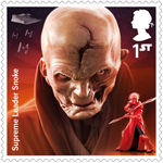 Star Wars - Droids and Aliens 1st Stamp (2017) Supreme Leader Snoke
