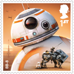 Star Wars - Droids and Aliens 1st Stamp (2017) BB-8